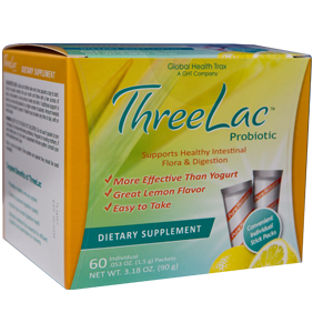 Threelac probiotic packets box