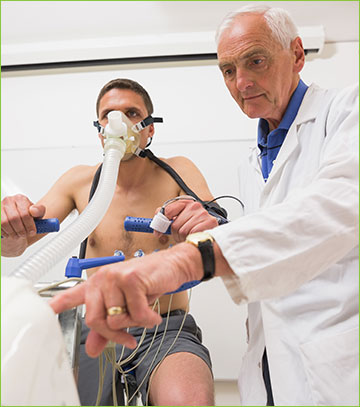 Doctor Giving a Stress Test